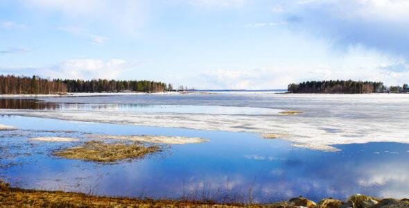 Isen smälter i Norrbotten